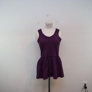 Matilda Jane Sleeveless Peplum Top, XS Purple